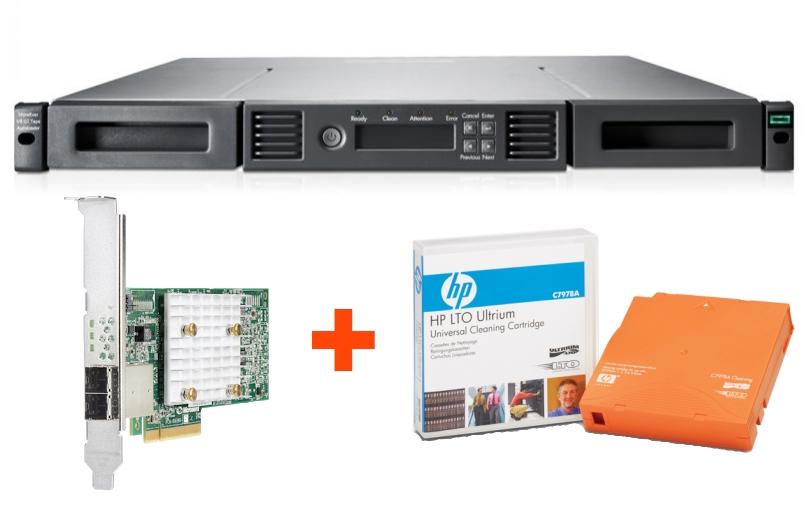 Ленточная библиотека HPE StoreEver MSL LTO-8 + контроллер и картридж в подарок!